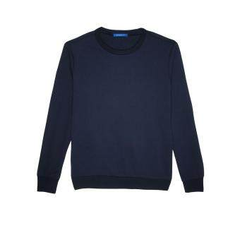 F.O.S NAVY & NAVY MEN'S MELANGE NAVY BASIC SWEATER