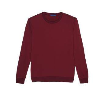 F.O.S NAVY & NAVY WOMEN BASIC MAROON SWEATER