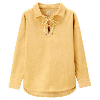 Giordano wick velvet string shirt (85 casual)