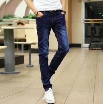 Harga Happy Men are slim and slender trousers Blue
