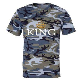feb8c0d2e Hequ New Chic High Quality Summer King Queen Camouflage Printed Couple T- shirts  Short Sleeve