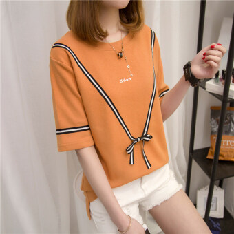 Wit Korean female New Student top T-shirt (806 (orange)) (