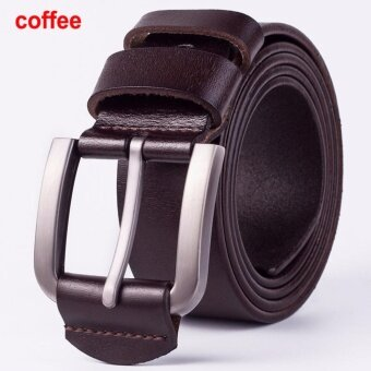 Harga Hot Sale Genuine Leather Belt Man Luxury Belts Men Wide Men's Strapfor Pants Top Quality Designer Male Girdle Cow Skin Coffee Size110cm