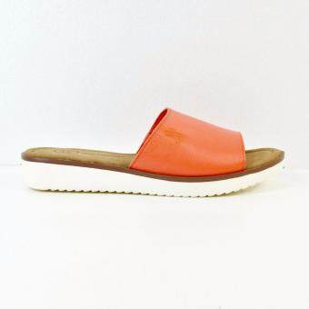 HUSH PUPPIES ABBY FLAT SANDALS ORANGE