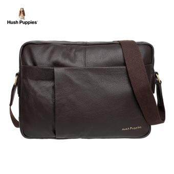 Hush Puppies Adam Messenger Bag (Dark Brown)