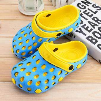Harga women sandals hole slippers couple sandals mules and clogs garden shoes for women breathable beach shoes