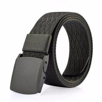 Harga Automatic Buckle Nylon Belt Male Army Tactical Belt Mens Military Waist Canvas Belts Cummerbunds High Quality Strap(Army Green)
