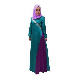 Harga Natasha Shazrina Sequin Flower Lace Muslimah Dress / Jubah Satin