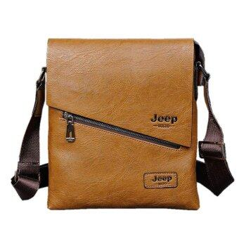 Harga 2017 new Jeep men Bag Shoulder Bag Messenger Bag fashion leisure business bag factory outlets(Brown)