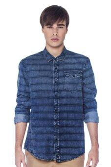 Harga HI STYLE Denim Long Shirt (Blue)