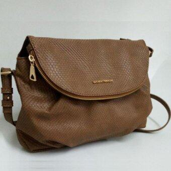 Harga Mango Double Compartment Cross Body Bag ( Brown )