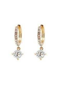 Harga Crystal Rhinestone Gold Plated Twinkle Women Earrings Gold