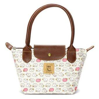 Harga Dolly Club Mini Leather Cover Shoulder Tote Bag (Beige + Pink Sheep Print)