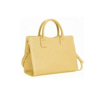 Harga Mango Leather Messenger Bags (Gold)