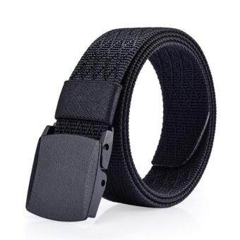 Harga Automatic Buckle Nylon Belt Male Army Tactical Belt Mens Military Waist Canvas Belts Cummerbunds High Quality Strap(Black)