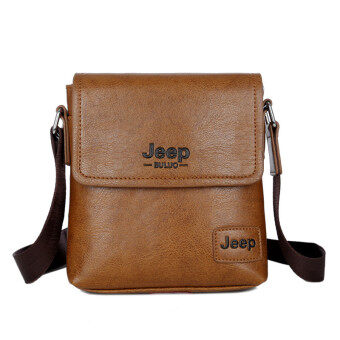Harga New Leather Bag Mini Shoulder Bag Messenger Bag Backpack Man Purse Tablet Computer Business Casual Crossbody Bag (Camel)