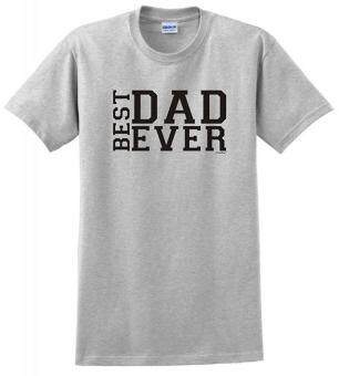 Harga Summer Hot Tshirts Best Dad Ever Father's Day T-Shirt Men Cotton Clothing Casual O-neck TShirts Grey