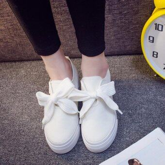 Harga WILD SNEAKER WITH RIBBON LACE (WHITE)