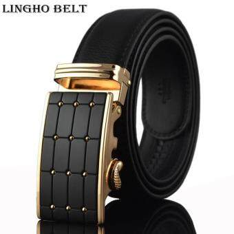 Harga Gold famous brand mens belt 2017 Fashion real leather belt designer belts for men luxury men belts 110-130cm ,KB-33