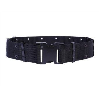 Harga Police Military Training Belt Tactical Adjustable Waist Belts(Black)