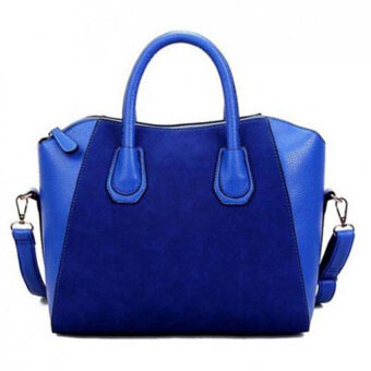 Harga MonCoeur Elegant Faux Leather Handbags (Blue)