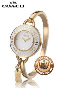 Harga Coach Stainless Steel Watch Gold 14501303