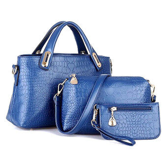 Harga Elegant Faux Crocodile Leather Bags (Set of 3)