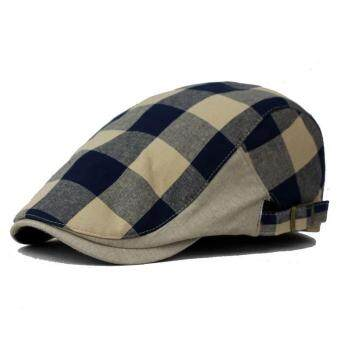 Harga New Men Women Duckbill Ivy Beret Cap Golf Driving Flat Cabbie Newsboy Gatsby Hat dark blue