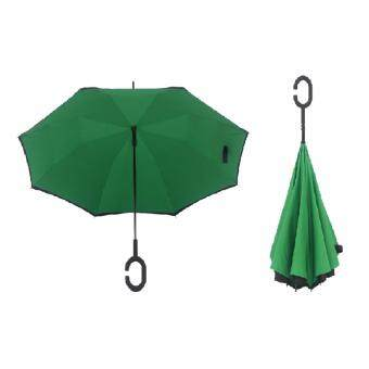 Harga 4CONNECT High Quality Unique Inverted Inside-Out Umbrella With C-Hook Handle - GRASS GREEN