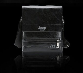Harga Jeep Leather Crossbody Bag Shoulder Bag (Black)