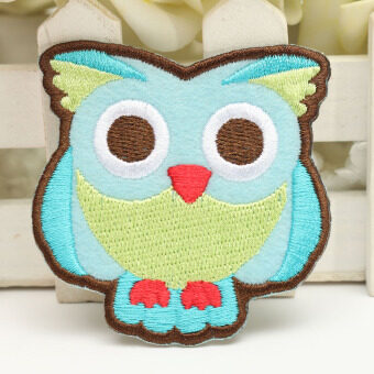 Harga Couple Owl Embroidery DIY Fabric Sticker Embroidery Patch Clothes Bags Ornament Green