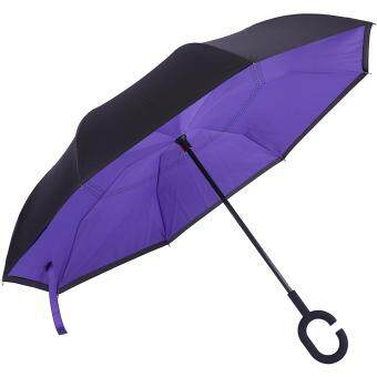 Harga Inverted Inside-Out Umbrella With C-Hook Handle - Purple