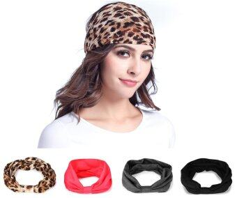 Harga meluoher Fashion Multi Style Turban Headbands for Sports Running Yoga Travel Workout,Headwear Hair Wrap Scarf Band for Women