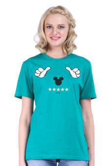 Harga Disney Mickey MIC-MT-964 Green Unisex Short Sleeve Tee