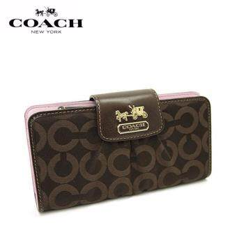 Harga Coach F41986 Madison Op Art Slim Envelope Wallet (Coffee)
