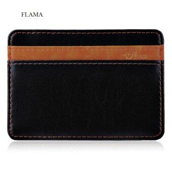Harga FLAMA Color Block Resilient Magic Closure Short Money Clip for Unisex
