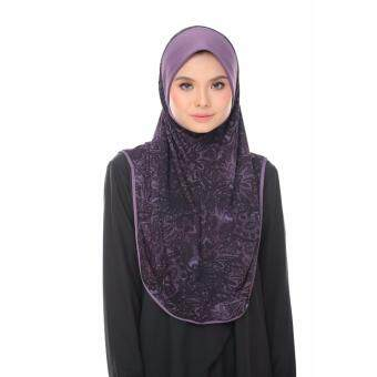 Harga Aisya Printed Express Hijab (L) with Purple Awning
