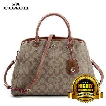Harga Coach F34608 SMALL MARGOT CARRYALL IN SIGNATURE (Brown)