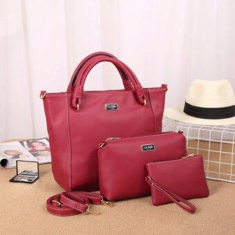 Harga LA POLO LA 20707 Cross Body & Shoulder Bags Set 3 IN 1 (ROSE)