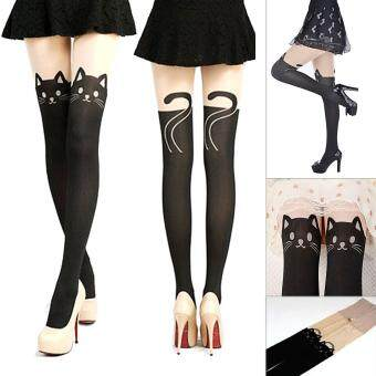 Harga Moonar Women Fashion Lovely Cat Pattern Pantyhose Sexy panty-hose