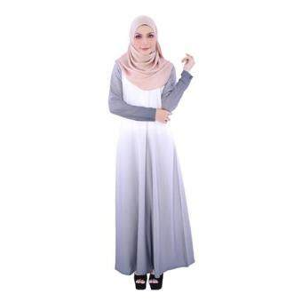 Harga Aalia Donna by Gulatis Ladies Jubah Ardani White/Grey