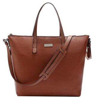 Harga Mango Pebbled Sling Tote Bag ( Brown )