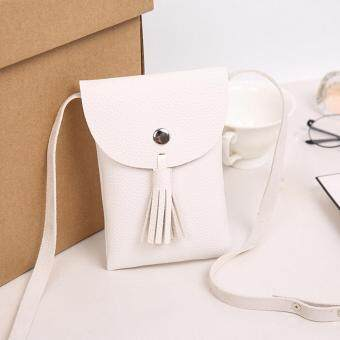 Harga Women Zero Purse Bag Leather Handbag Shoulder Crossbody Messenger Phone Bag White
