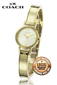 Harga Coach 14501439 Stainless Steel Strap Watch (Gold)
