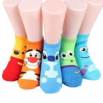 Harga Disney Rascal Sneakers Women's Socks 5 pairs Made in Korea