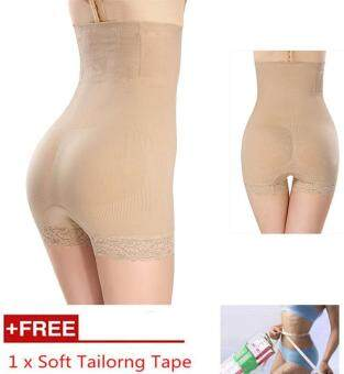 Harga Women High Waist Body Shaper Slimming Pants / Corset / Shorts / Shaping Body shaper/ Panties / Underwear/Seluar Dalam Pengempis Perut* Shapewear for women With Bonus Soft Tailorng Tape, Nude