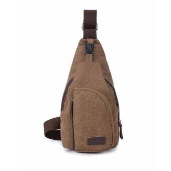 Harga Warbase Canvas Shoulder Bag L size (Coffee)