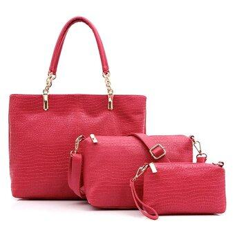 Harga Set of 3 Elegant Faux Crocodile Leather Bags Bag Suits Shoulder Handbag