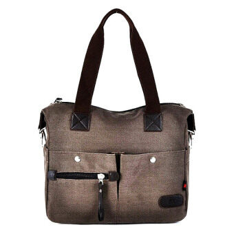 Harga Korean Style Lady Canvas Bag Coffee