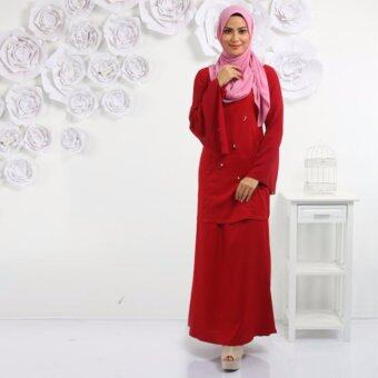 Harga Haniya Baju Kurung Modern Cape And Special Beading Design (Red)